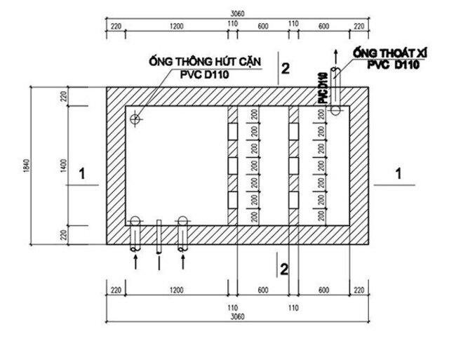 Cách tính toán mét khối bể phốt theo tiêu chuẩn
