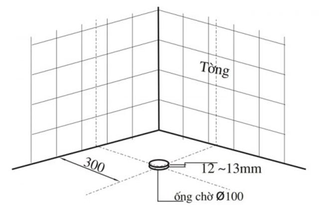 xác định vị trí ống nước thải